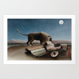Henri Rousseau - The Sleeping Gypsy Art Print