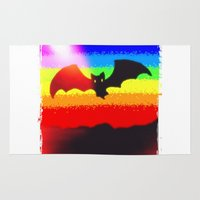 bat Area & Throw Rugs featuring Bat by wingnang