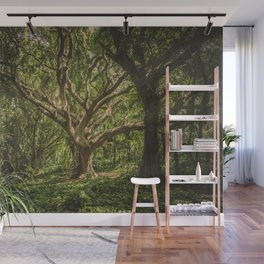 Old Green Tree Wall Mural