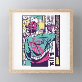 Anime Urban Japanese Style Framed Mini Art Print
