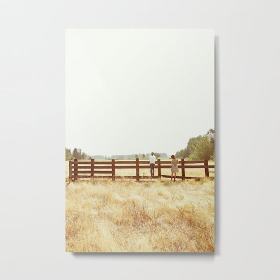 Fence Standing Metal Print