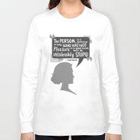 jane austen Long Sleeve T-shirts featuring [Jane Austen] Book Lover by samarasketch