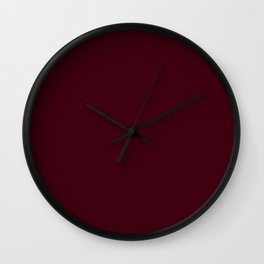 Chocolate Brown - solid color Wall Clock