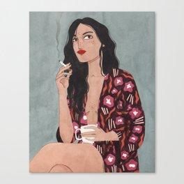 Coffe and cigarettes Canvas Print