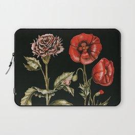 Carnation & Poppy on Charcoal Laptop Sleeve