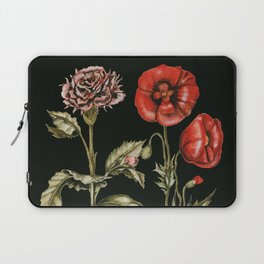 Carnation & Poppy on Charcoal Laptop Sleeve