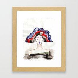 Margot With a Purple Lipstick Framed Art Print