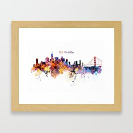 San Francisco Skyline Framed Art Print