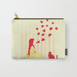 Bubbly Hearts Carry-All Pouch
