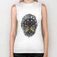 skulls Biker Tanks featuring skulls by Hanan Azran