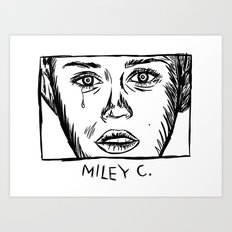 Miley C. Art Print