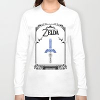 the legend of zelda Long Sleeve T-shirts featuring Zelda legend - Sword by Art & Be
