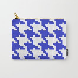 Retro Blue Shapes Background Pattern Carry-All Pouch