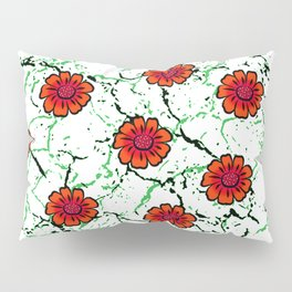 Summer Bloom - Red Pillow Sham