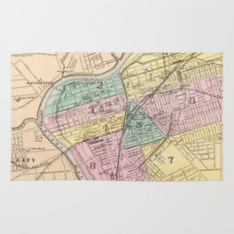 Vintage Map of Dayton Ohio (1872) Rug