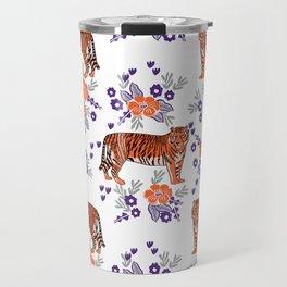 Tigers orange and purple clemson football varsity university college sports fan gifts Travel Mug