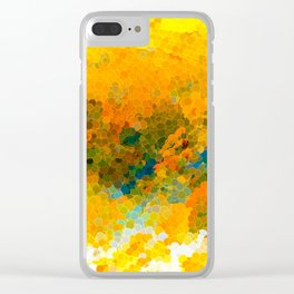 Morning Sun Glow Circle Pattern Abstract Clear iPhone Case