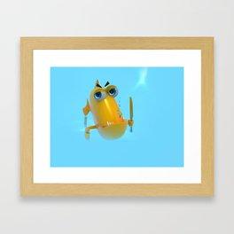 Hungry! The Dangerous Fish! NoLettering Framed Art Print