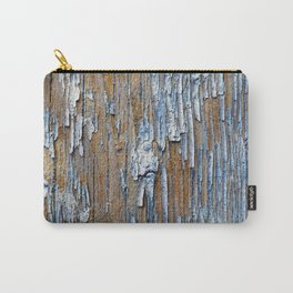 Old painted wooden plank Carry-All Pouch