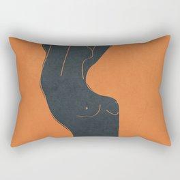 Abstract Nude IV Rectangular Pillow