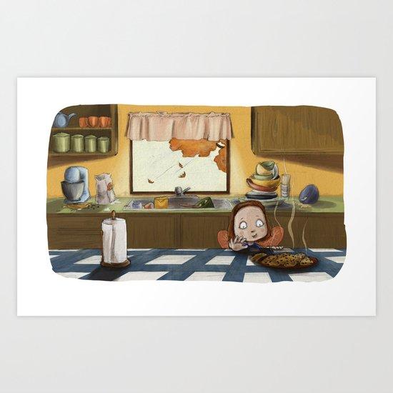 Cookie Thief Art Print