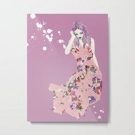 Pink/Purple Metal Print