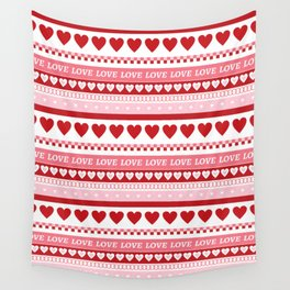 Valentine's Day - Love Pattern Wall Tapestry