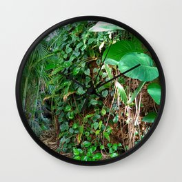 Tropical Forests II Wall Clock