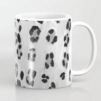 snow leopard Mugs featuring Snow Leopard by Shinichi Imanaka