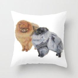 Pomeranians Throw Pillow