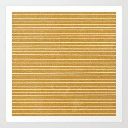 irregular stripes - mustard yellow Art Print