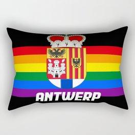 Antwerp Belgium gay pride lgbt Antwerpen rainbow Rectangular Pillow