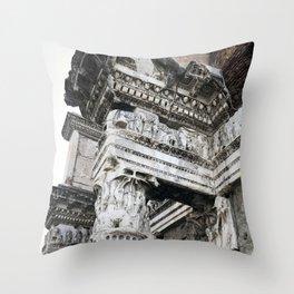 Ancient Roman Columns Throw Pillow