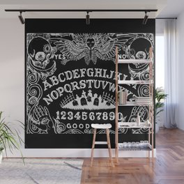 Ouija Board Black Wall Mural