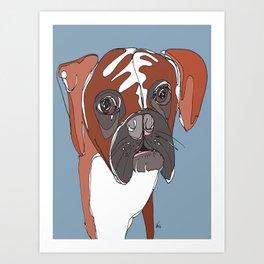 My Sad Boxer Dog Art Print