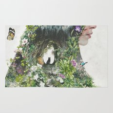 Cat in the Garden of Your Mind Rug
