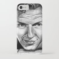 frank sinatra iPhone & iPod Cases featuring Frank Sinatra by Robin Ewers