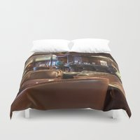 bar Duvet Covers featuring Lounge Bar by Deborah Janke