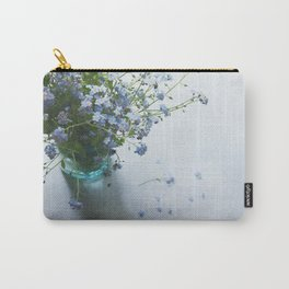Forget-me-not bouquet in Blue jar Carry-All Pouch