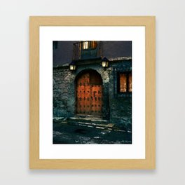 Medieval Gateway to the Lamplight Framed Art Print