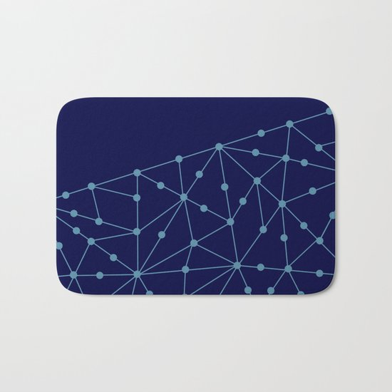 Blue abstract pattern . Mesh Bath Mat