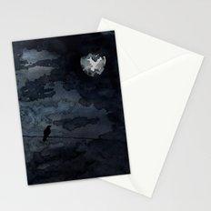 Moonlit Raven Stationery Cards