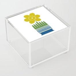 Nordic Yellow Flower Acrylic Box