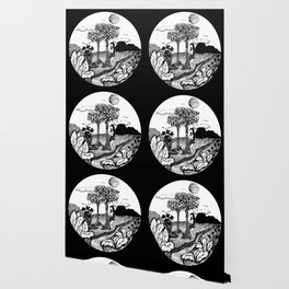The Garden - Black Wallpaper