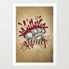 Knockout - Tattoo Design Art Print