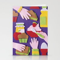 breakfast Stationery Cards featuring Breakfast by Jacopo Rosati
