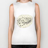 crocodile Biker Tanks featuring Crocodile by Mr. JJ