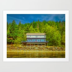 Squilax Cabin Art Print