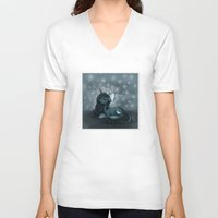 pony V-neck T-shirts featuring Sleepy Pony by Phantasmic Dream