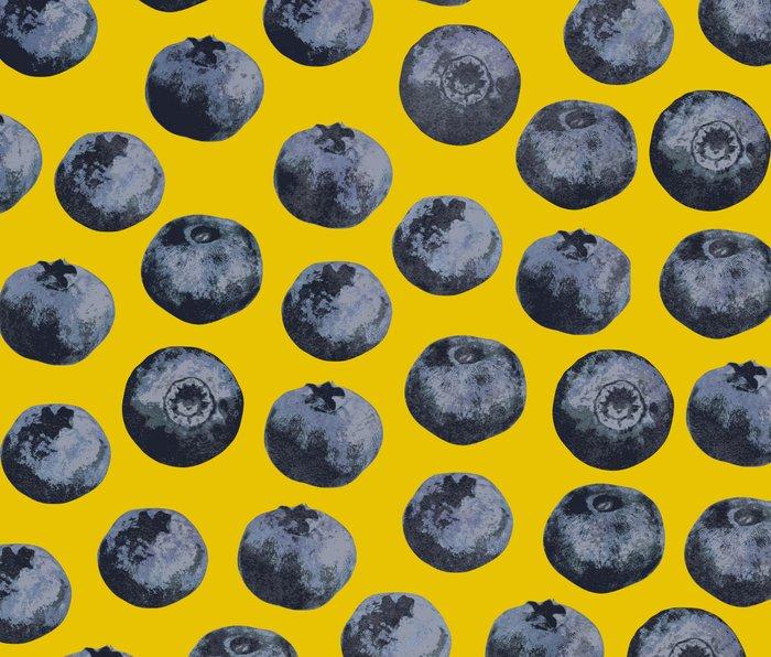 Blueberry pattern Metal Travel Mug
